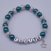 Star Outline Personalised Bracelet - Sparkle & Bling Style